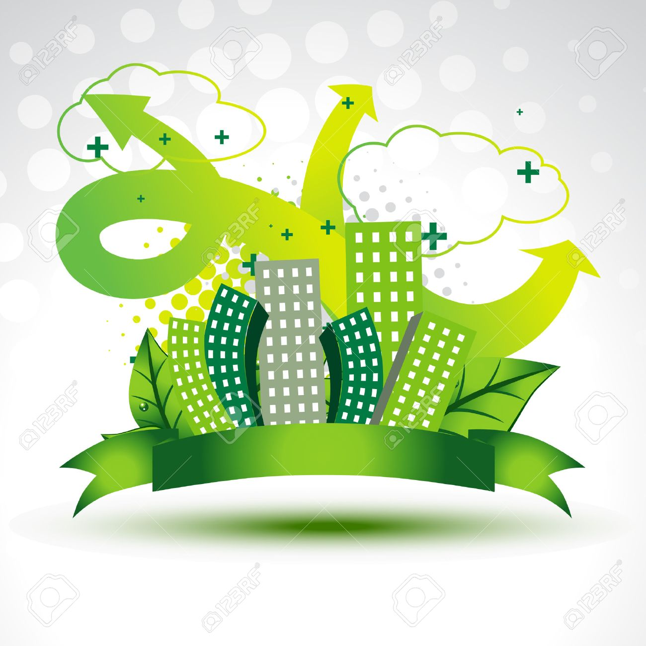 vector clean green city background Stock Vector - 8004989
