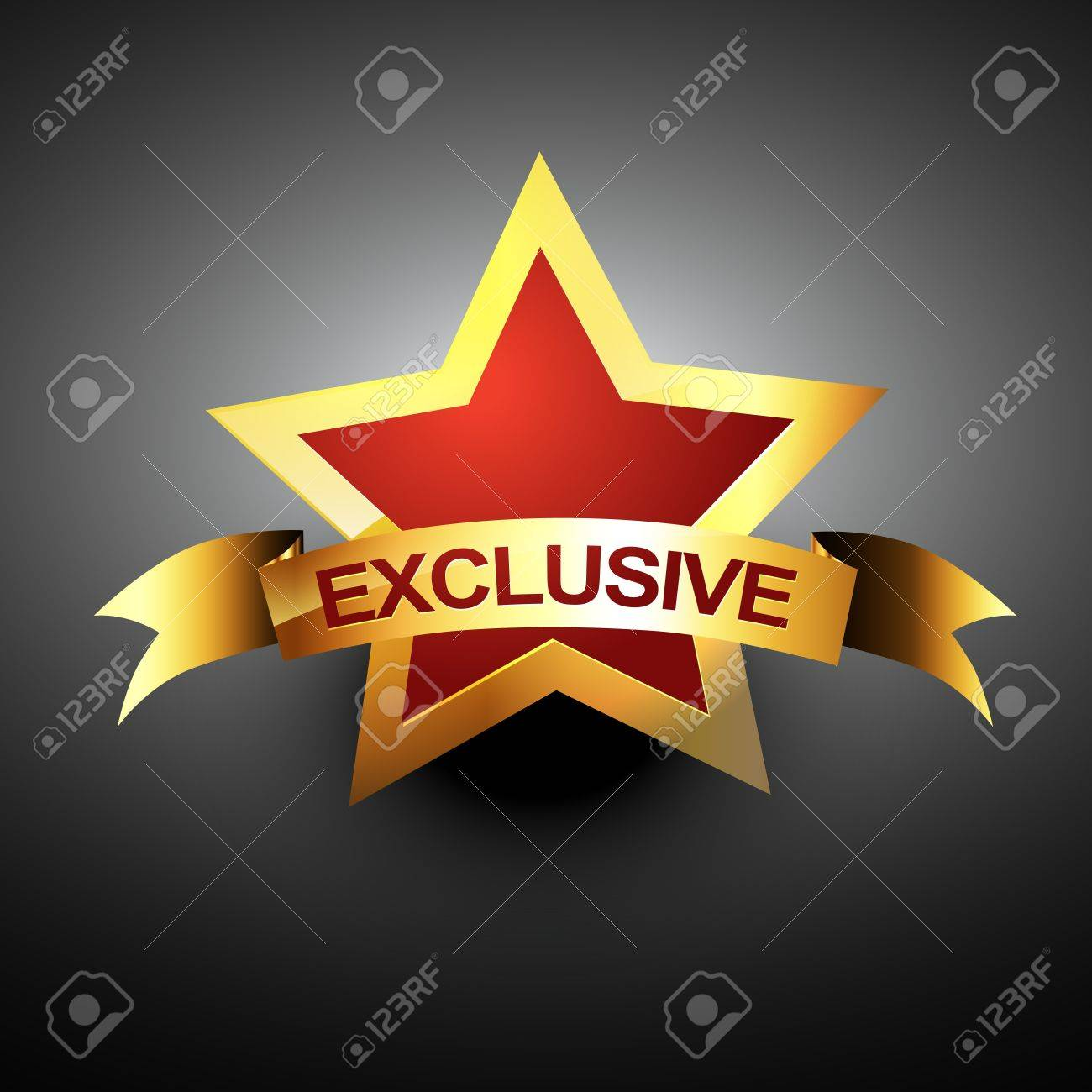 Exclusive Icon Vector - exclusive icon in