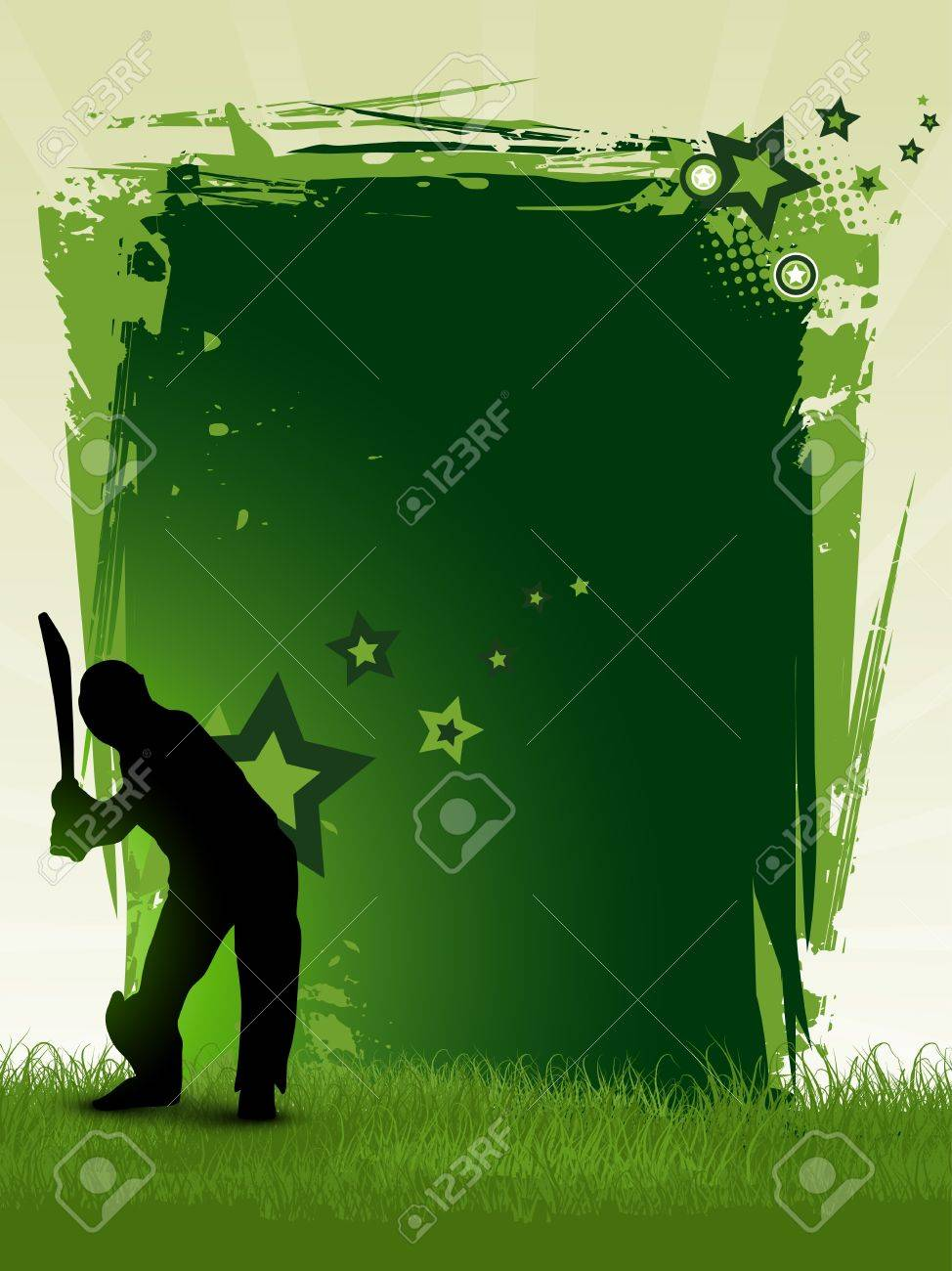 cricket background with space for your text Stock Vector - 8949605