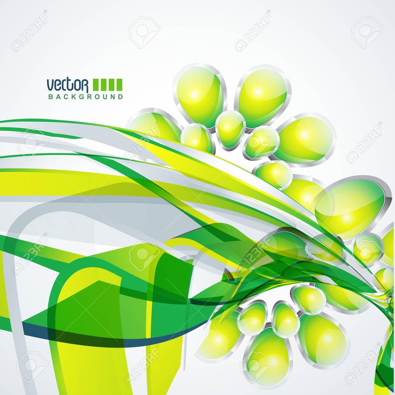 green wave design art Stock Vector - 9090691
