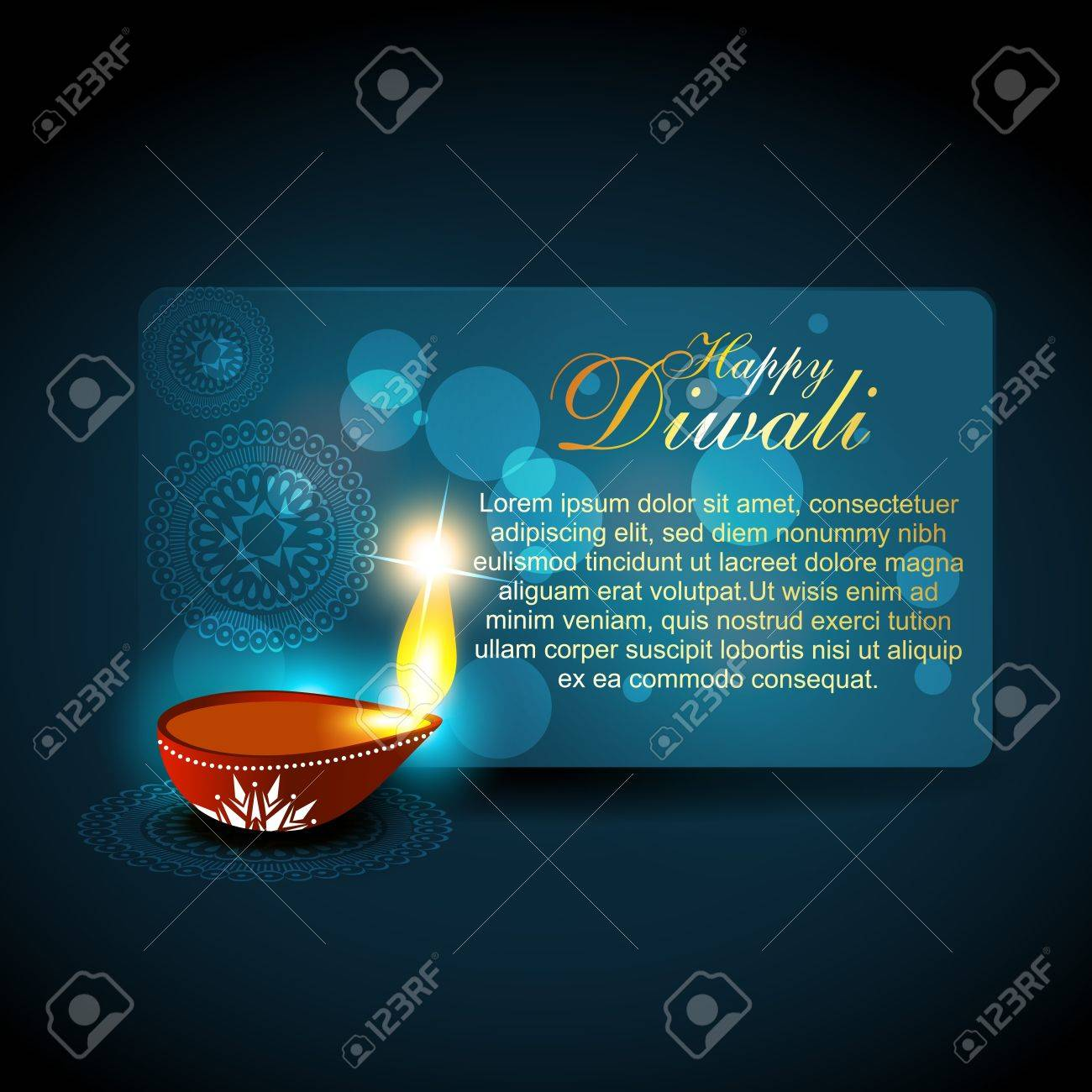beautful diwali hindu festival background Stock Vector - 11004491