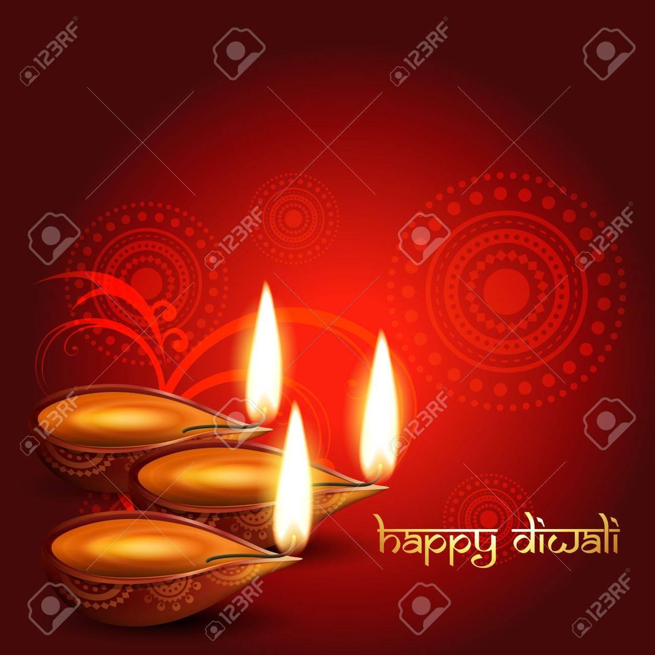 artistic hindu diwali festival vector background Stock Vector - 11004413