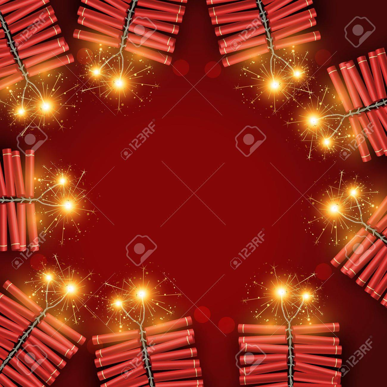 stylish crackers with space for your text Stock Vector - 11004468