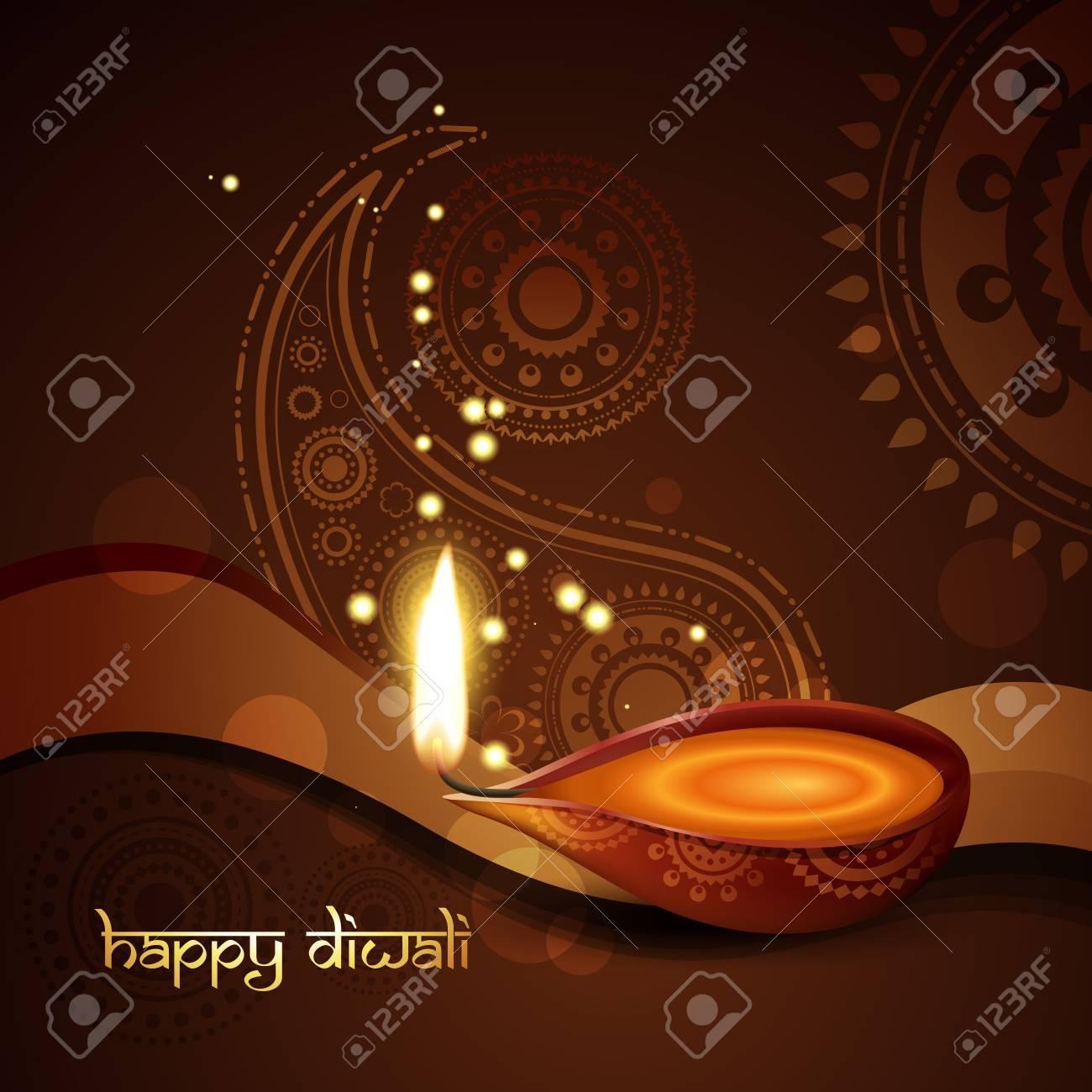 stylish indian diwali festival background Stock Vector - 11004481