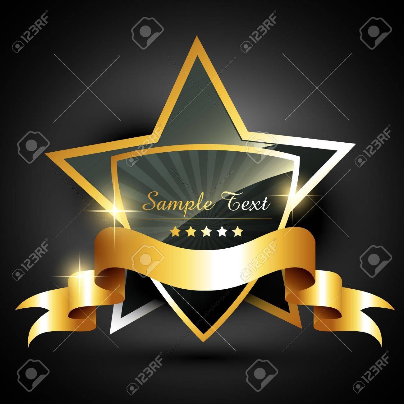 beautiful golden label style vector Stock Vector - 11886333