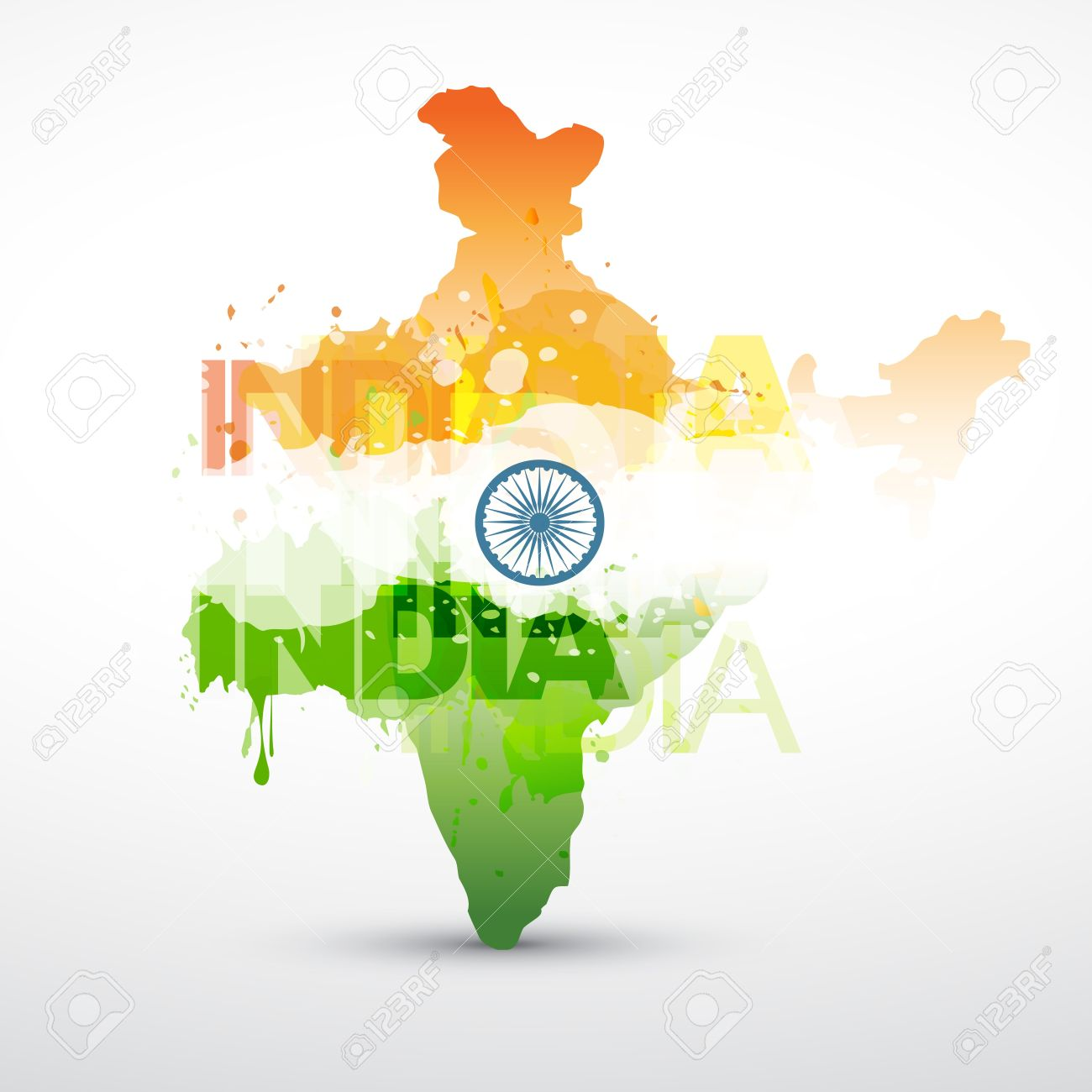 India Map Flag.India Map With Indian Flag Royalty Free Cliparts Vectors And Stock