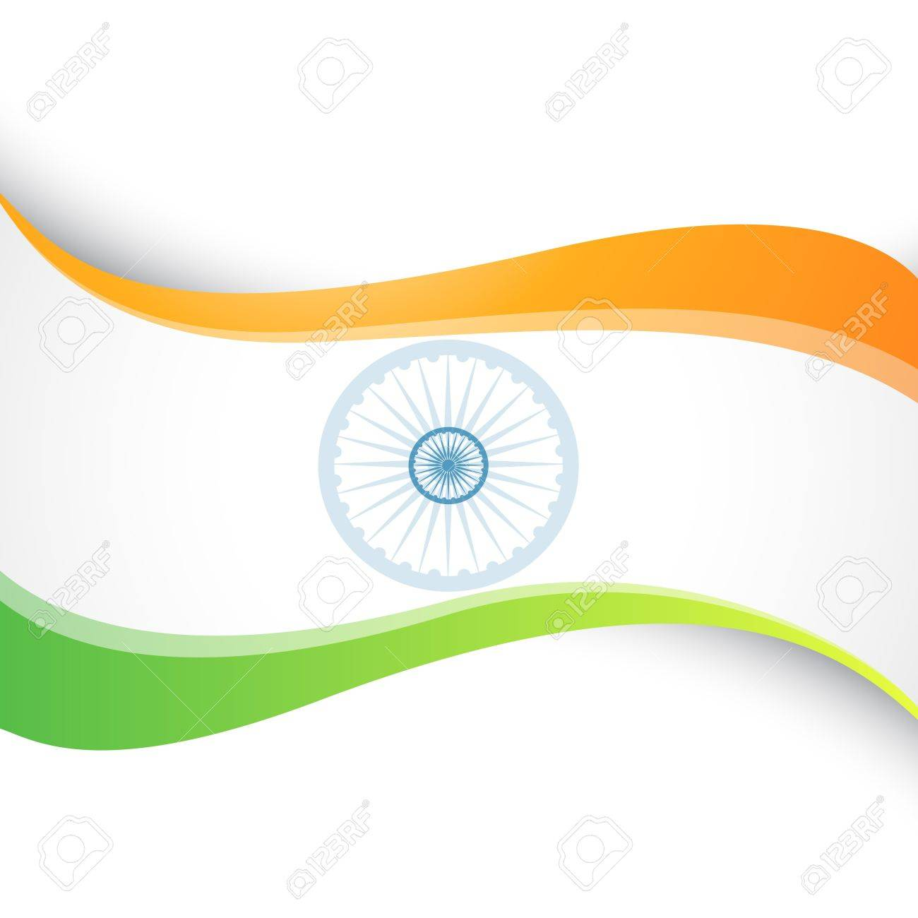 wave style indian flag design Stock Vector - 12041739
