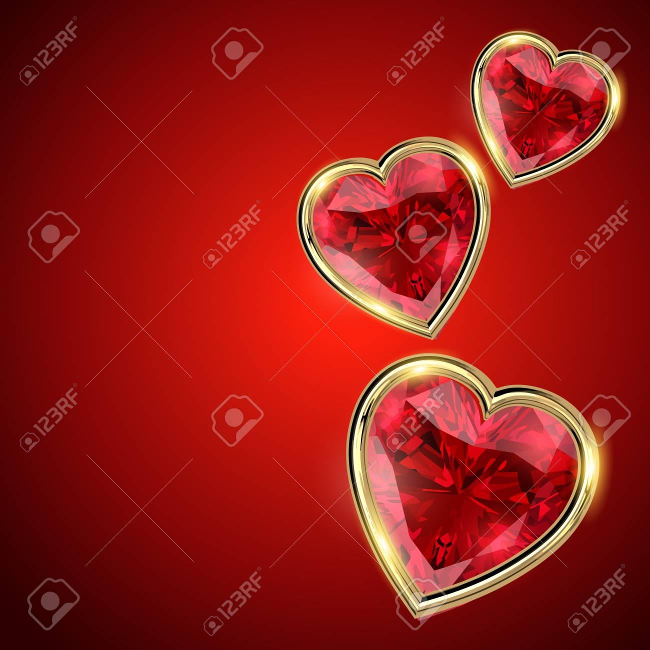 Schönen Valentinstag Herzillustration Lizenzfrei Nutzbare