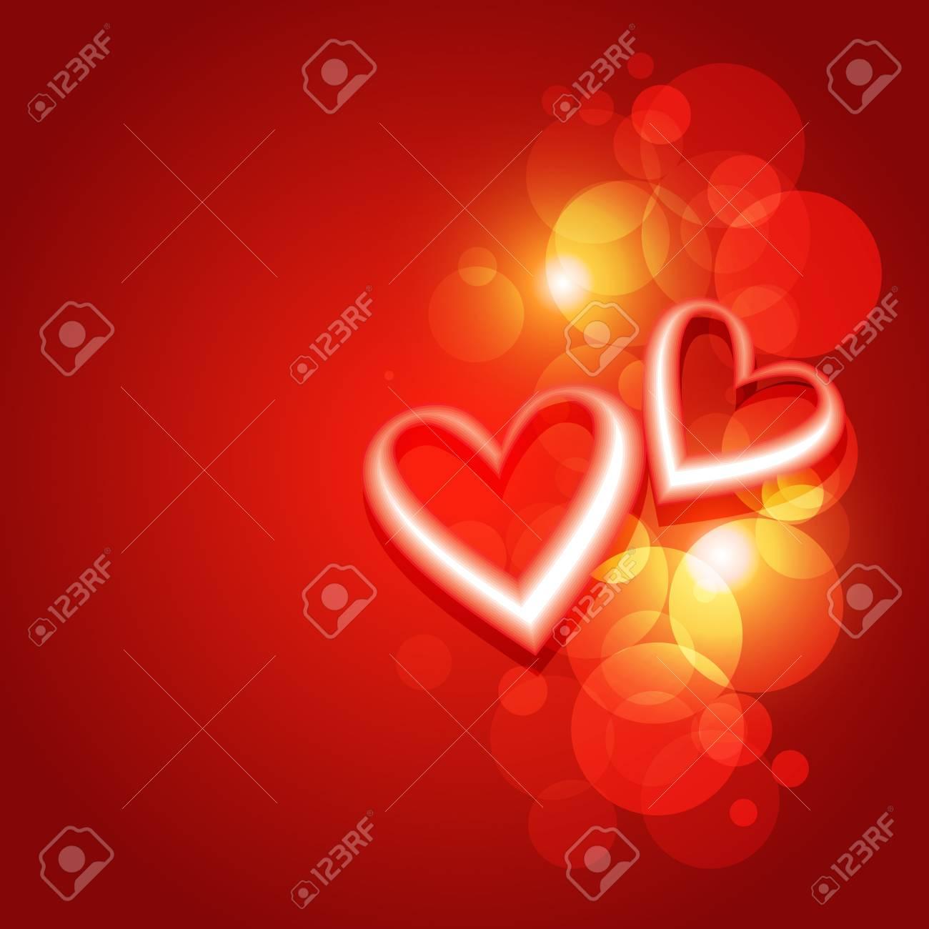 beautiful valentine day heart background design artwork