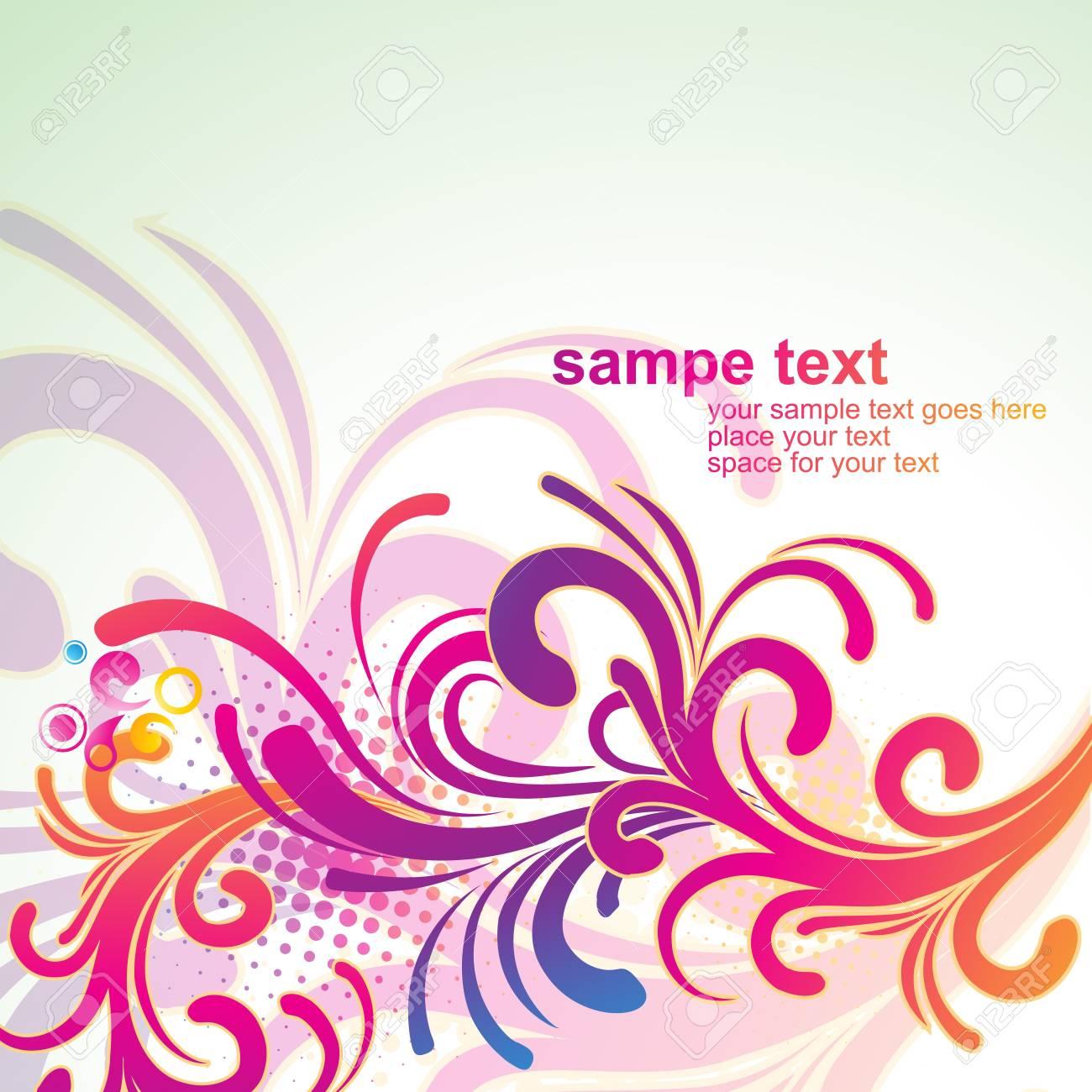芸術的な花のデザイン イラスト背景のイラスト素材ベクタ Image