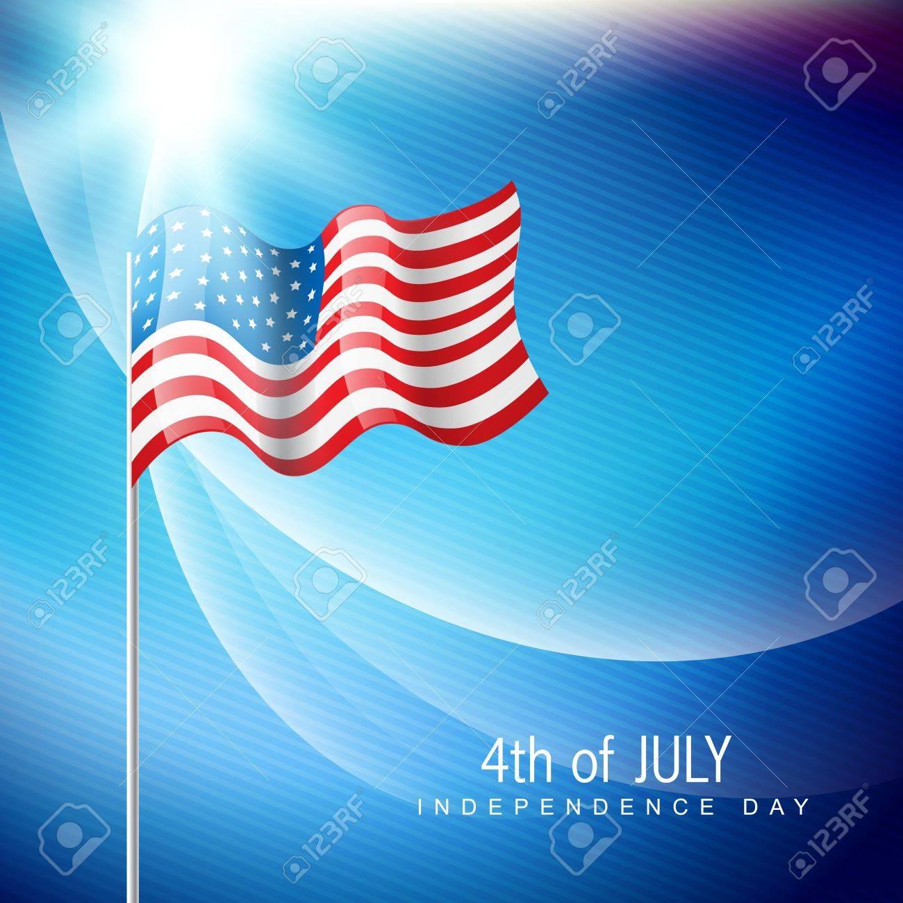 shiny american flag illustraton Stock Vector - 14232117