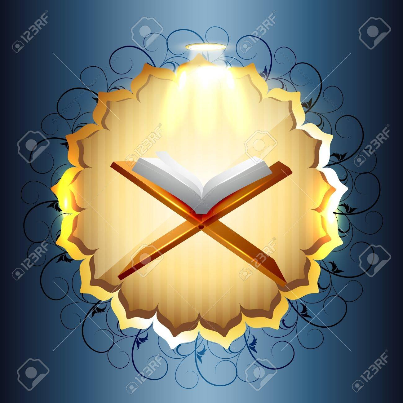 religious book of quraan vector illustration Stock Vector - 14470434