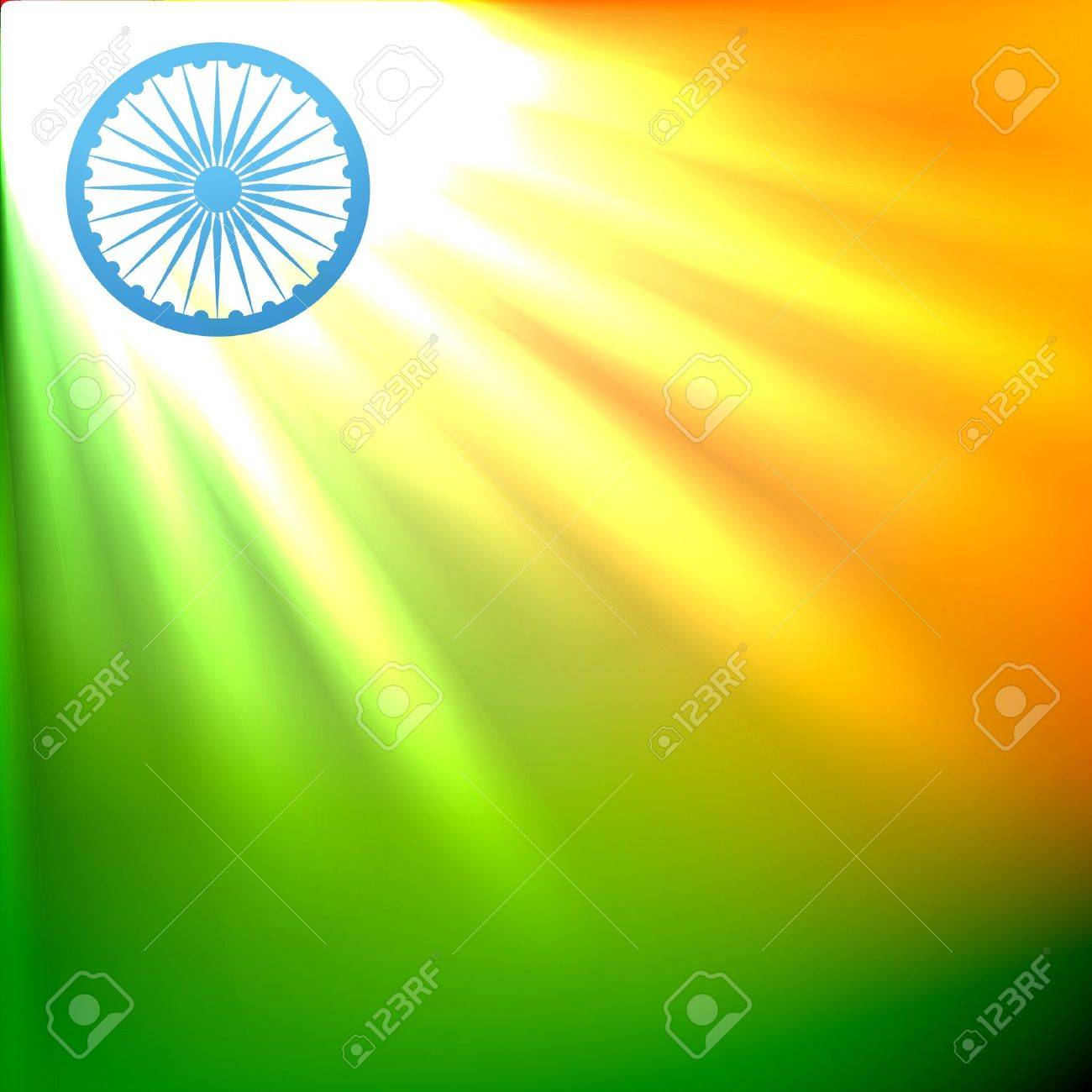 beautiful indian flag in glowing design Stock Vector - 14693136