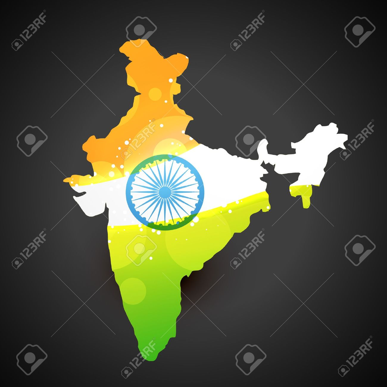 vector india map with flag design art Stock Vector - 14693170