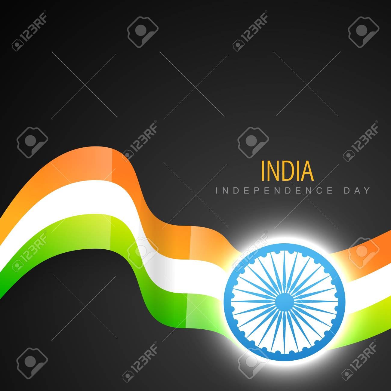 stylish indian vector flag design art Stock Vector - 14693141