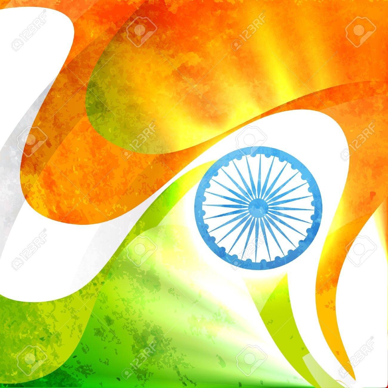 indian flag in grunge style vector background Stock Vector - 14693210