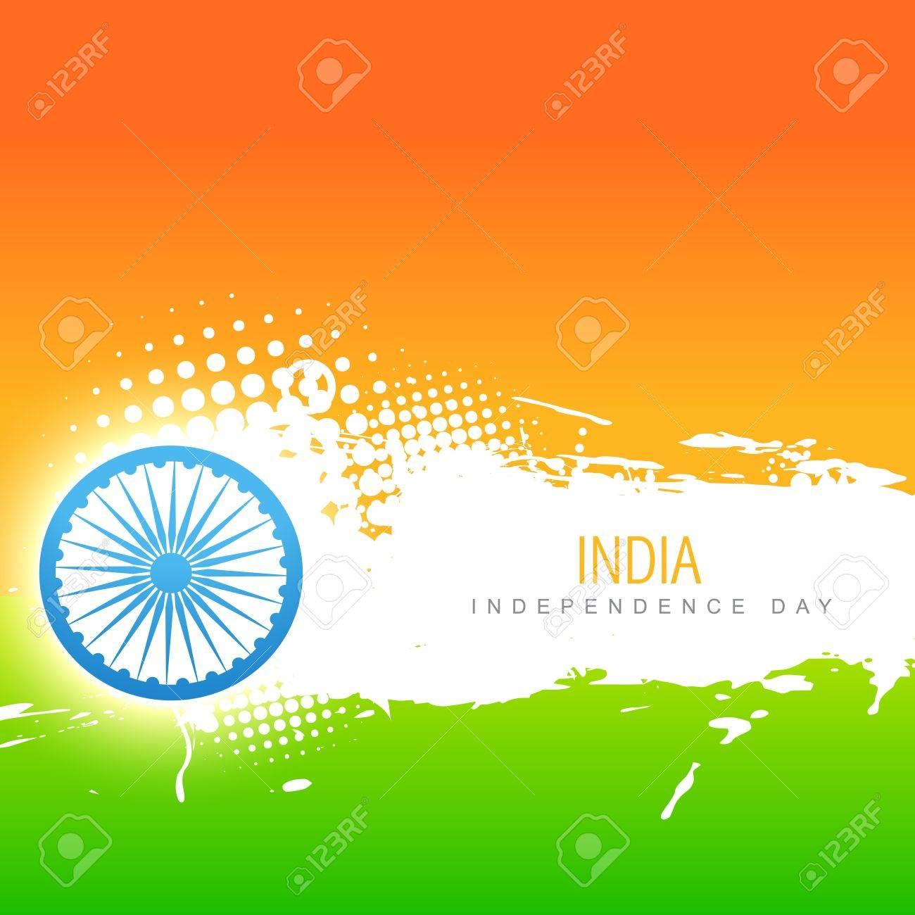 vector indian flag design art Stock Vector - 14693142