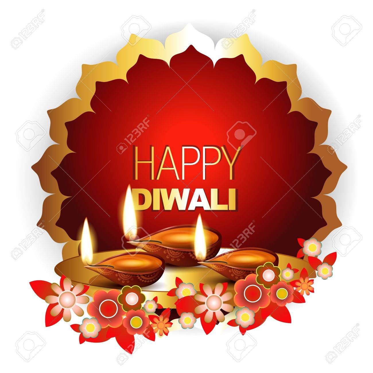 beautiful happy diwali background with space for your text Stock Vector - 15656163