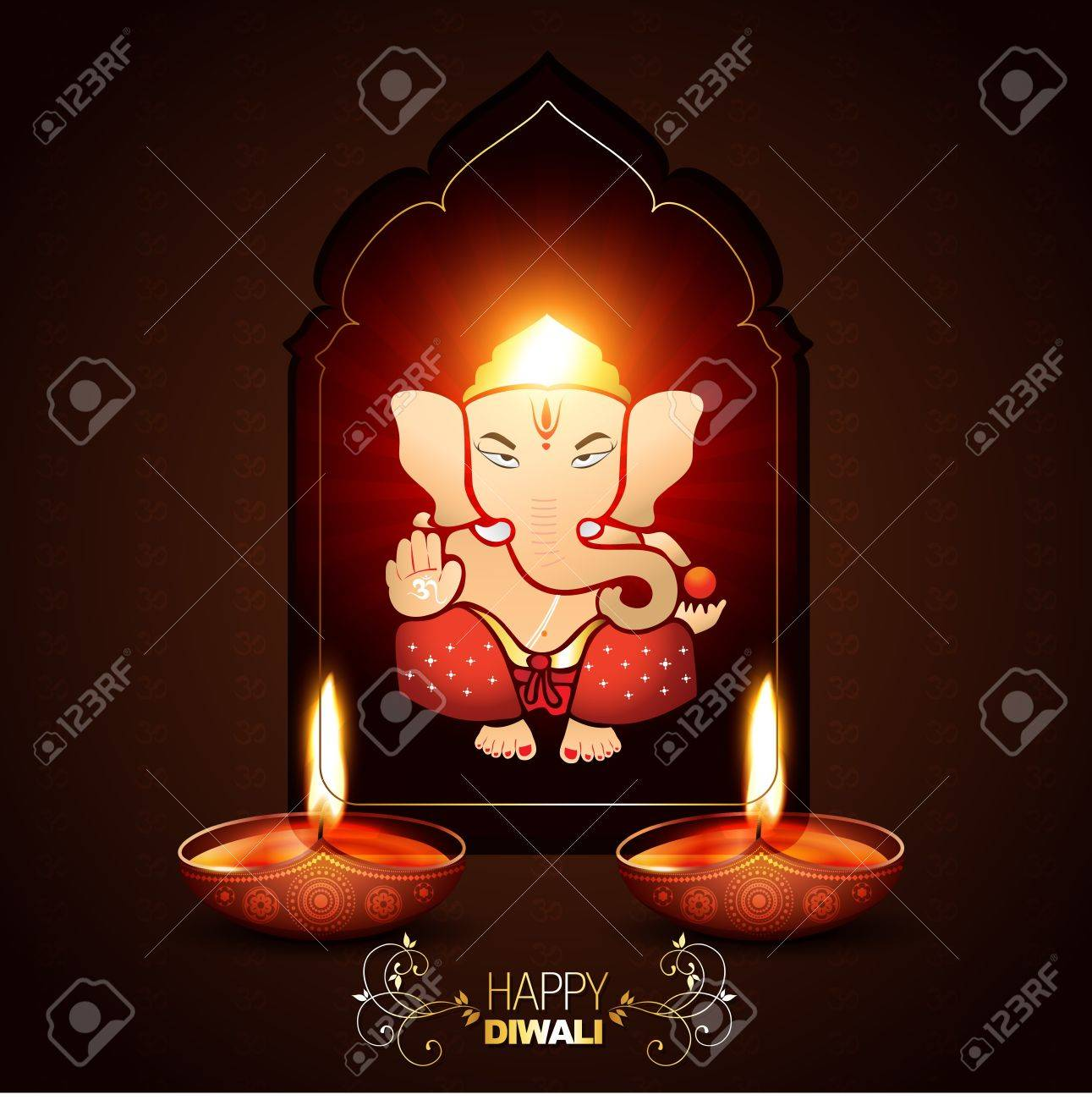 indian god ganesha on beautiful background Stock Vector - 15656317