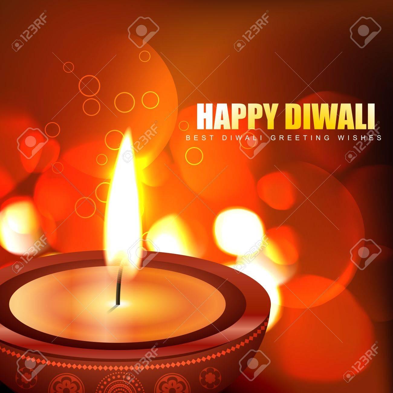 beautiful happy diwali background Stock Vector - 15655763