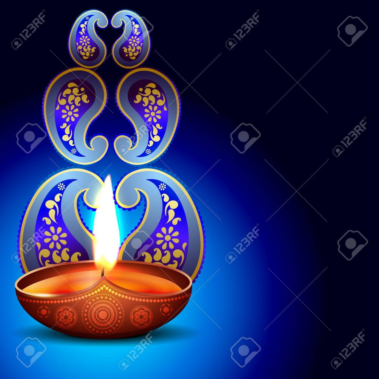 beautiful happy diwali background design Stock Vector - 16131255