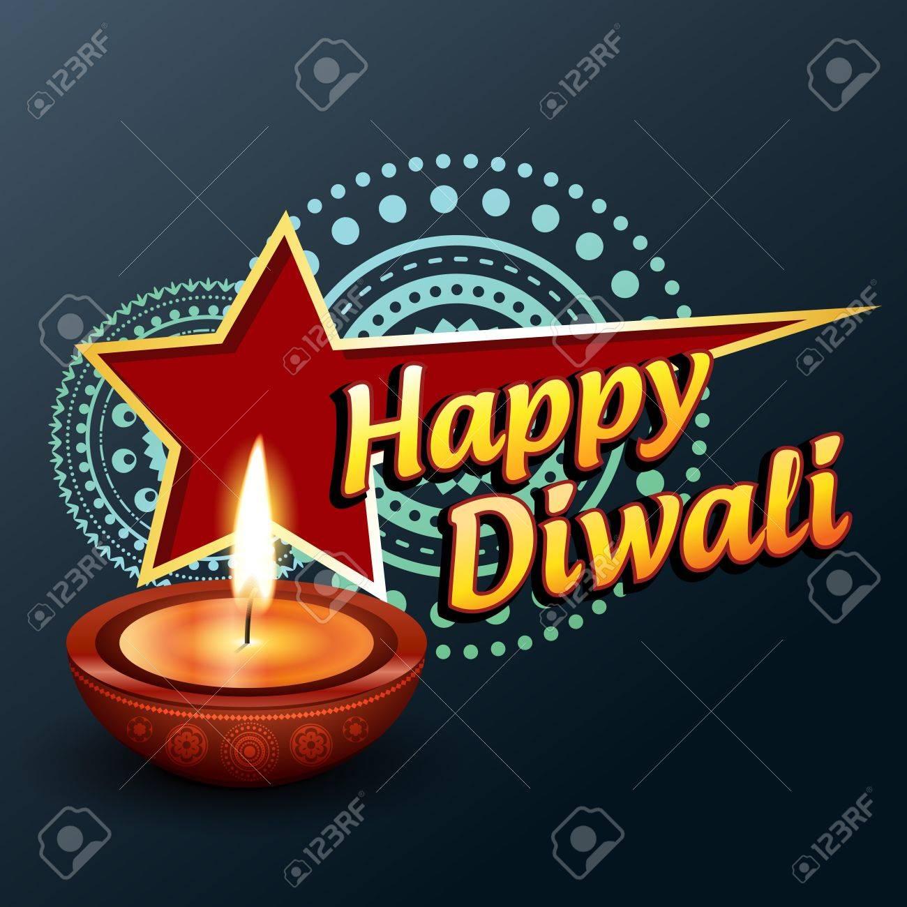 beautiful happy diwali greeting vector background Stock Vector - 16131270
