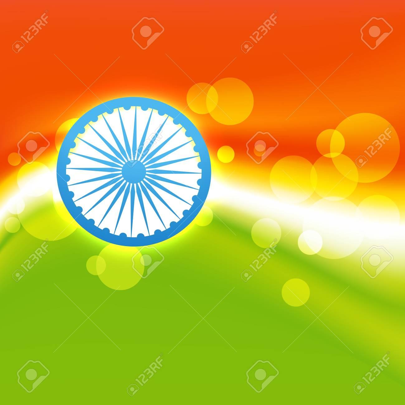 vector creative indian flag design Stock Vector - 17234053