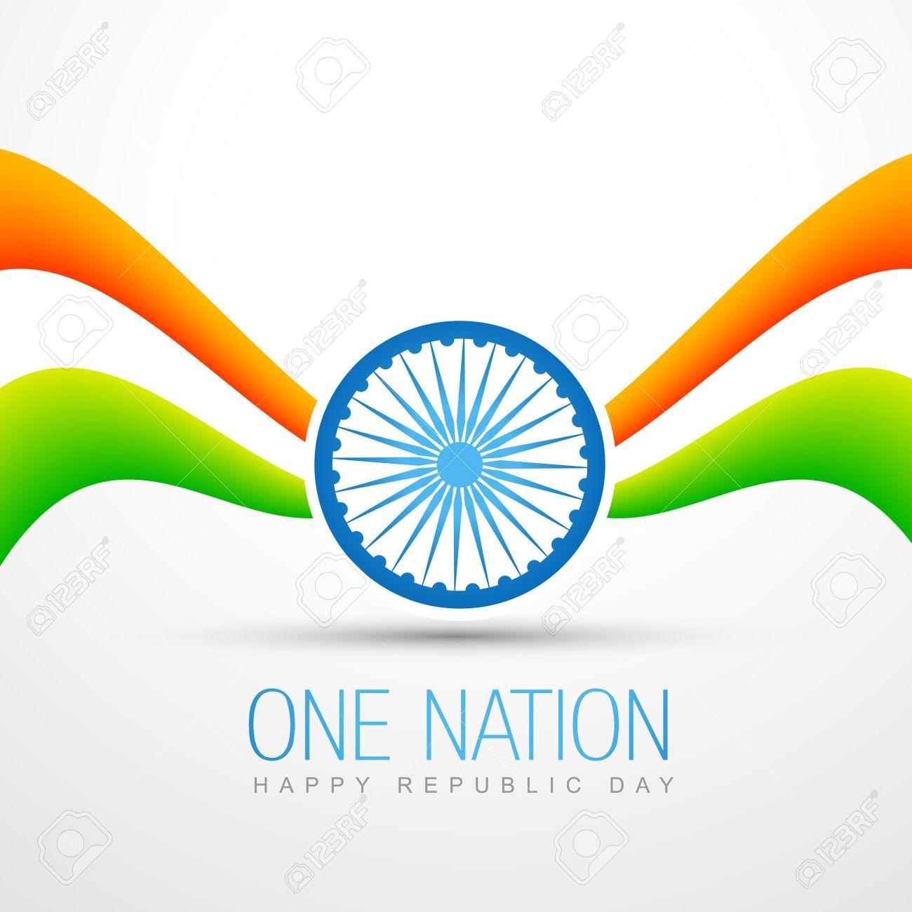 creative style vector indian flag design Stock Vector - 17233694