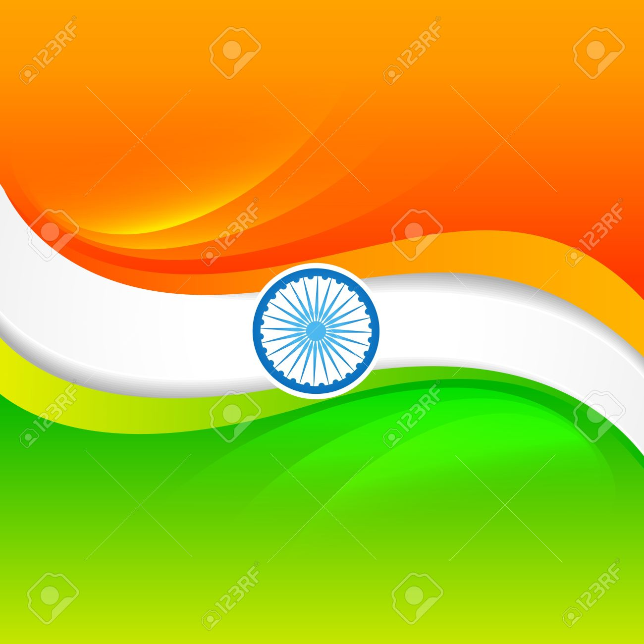 vector indian flag design in wave style Stock Vector - 17234080