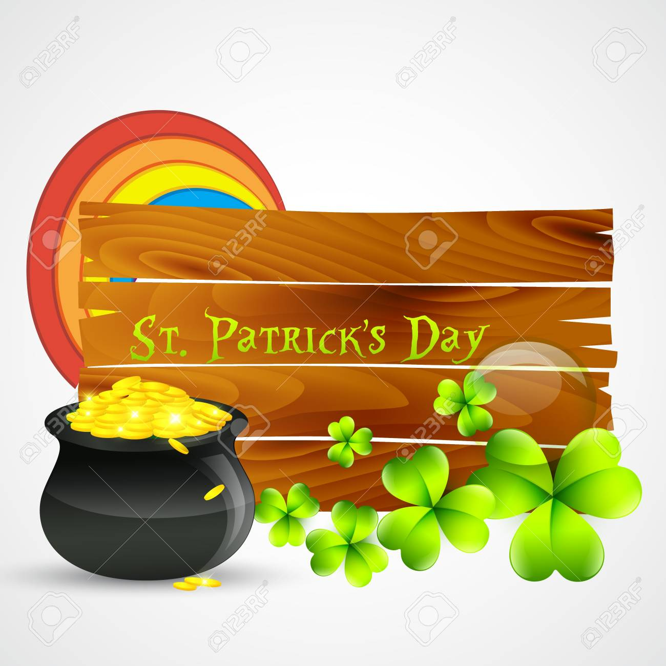 vector beautiful st patrick's day illustration Stock Vector - 17988162