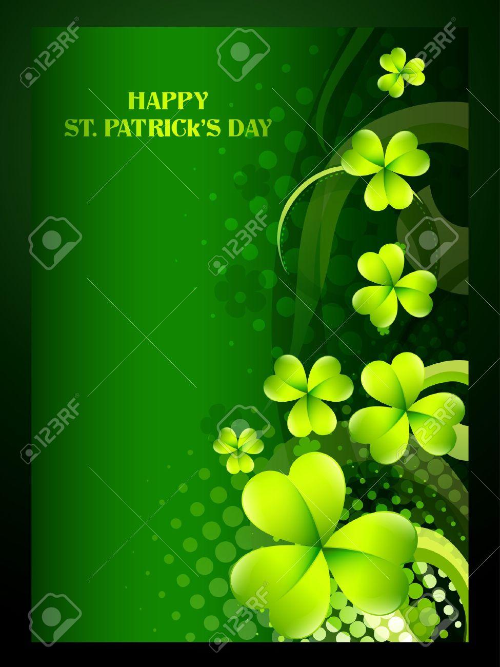 beautiful green shamrock leaf st patrick u0027s day background royalty