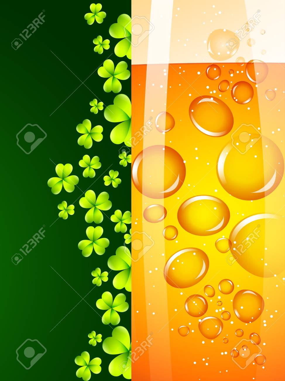 vector saint patrick's day design illustration with beer Stock Vector - 17988128