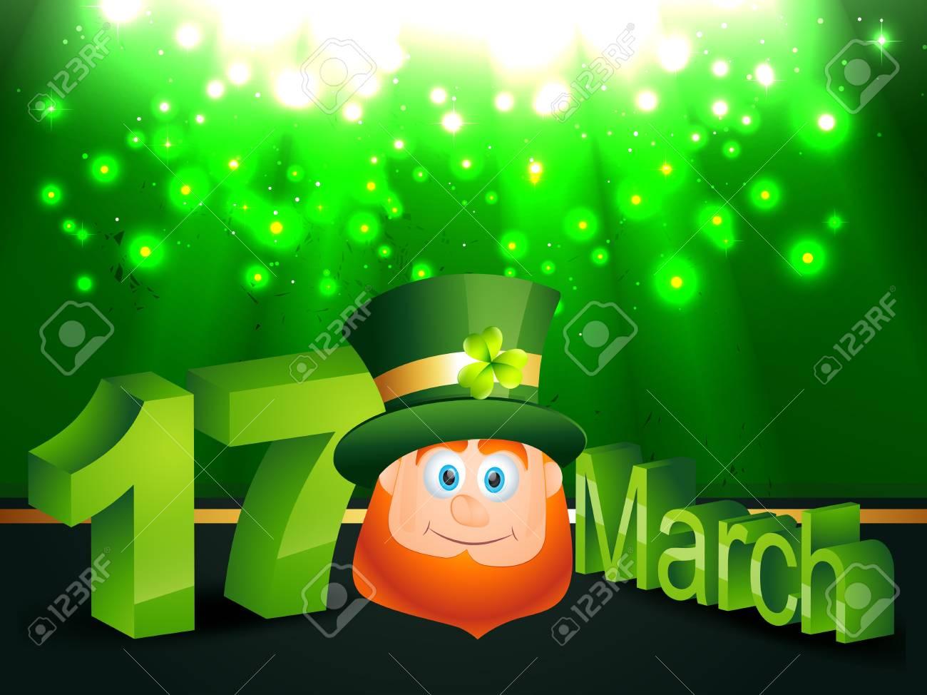 vector leprechaun on green background Stock Vector - 17988145