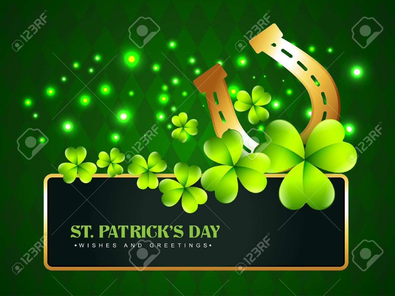 vector horse shoe saint patrick u0027s day background royalty free