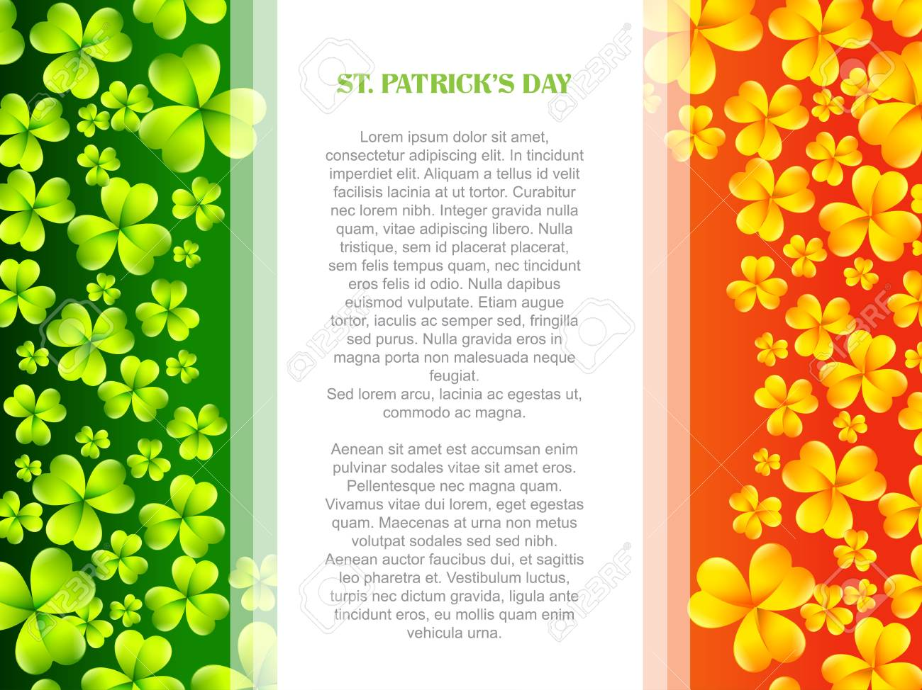 vector stylish saint patrick's day design in flag style Stock Vector - 17988171
