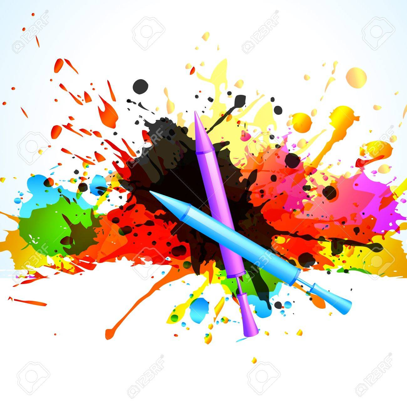 vector colorful holi splashes background Stock Vector - 18075727