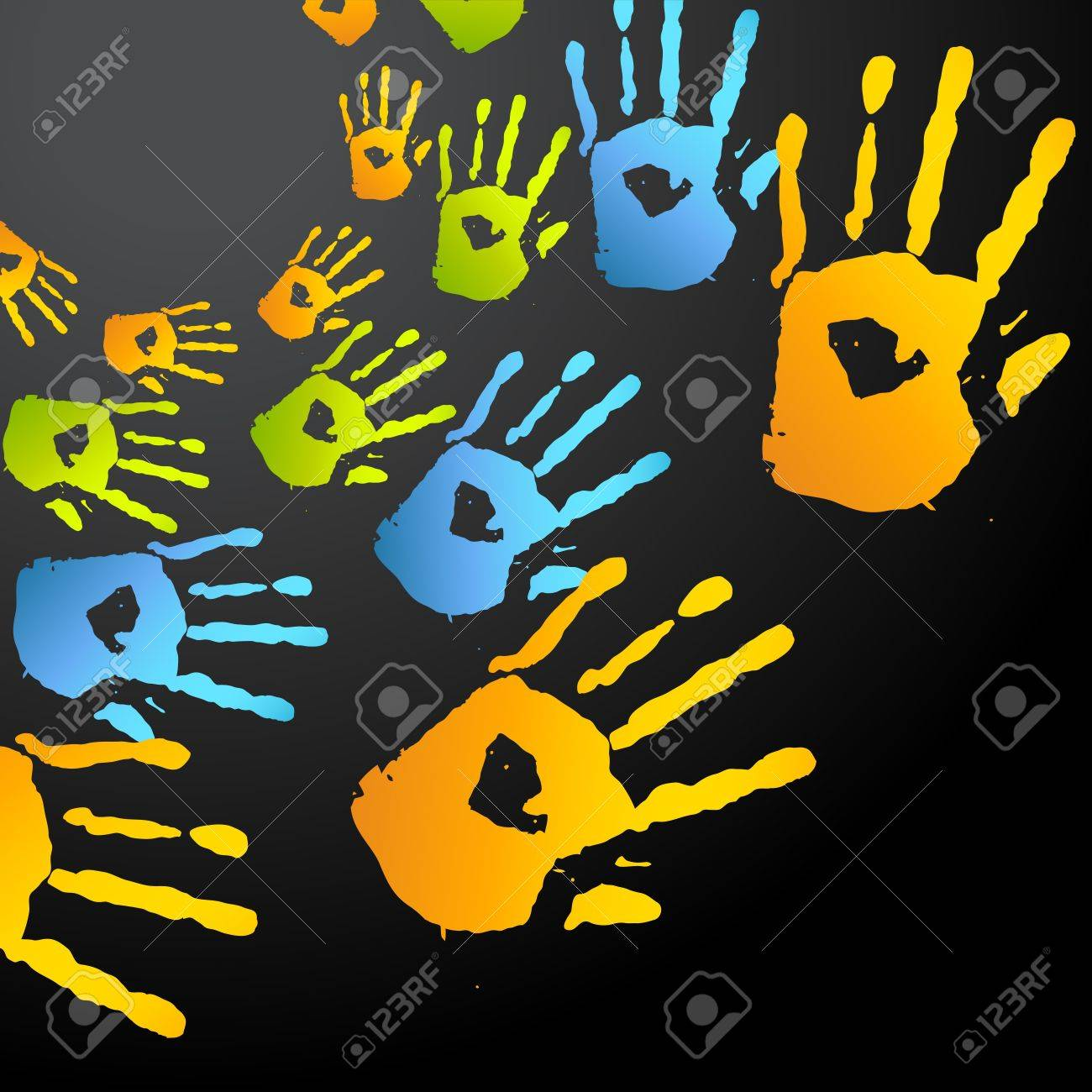 vector colorful hands vector design Stock Vector - 18075429
