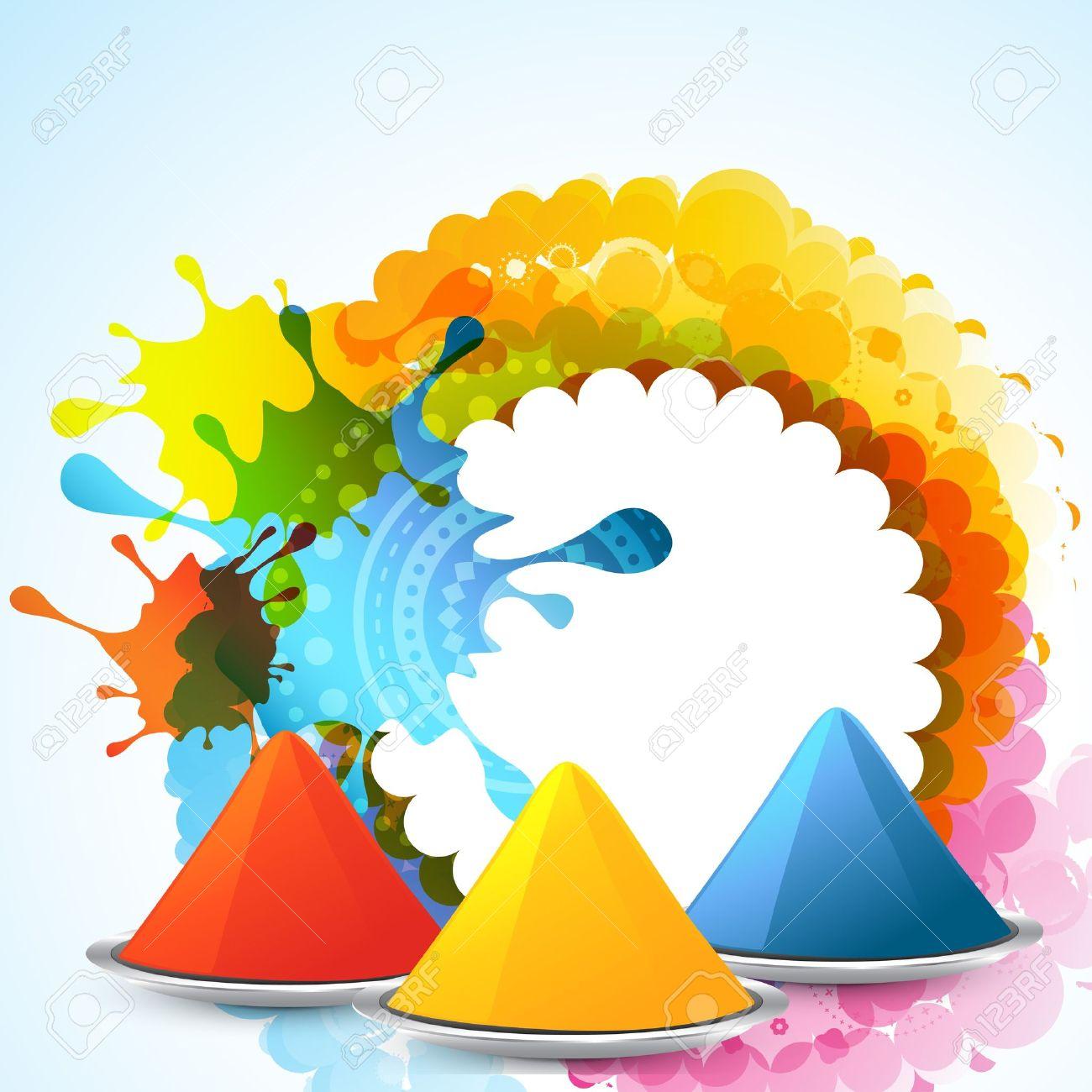 stylish colorful holi festival background Stock Vector - 18075770
