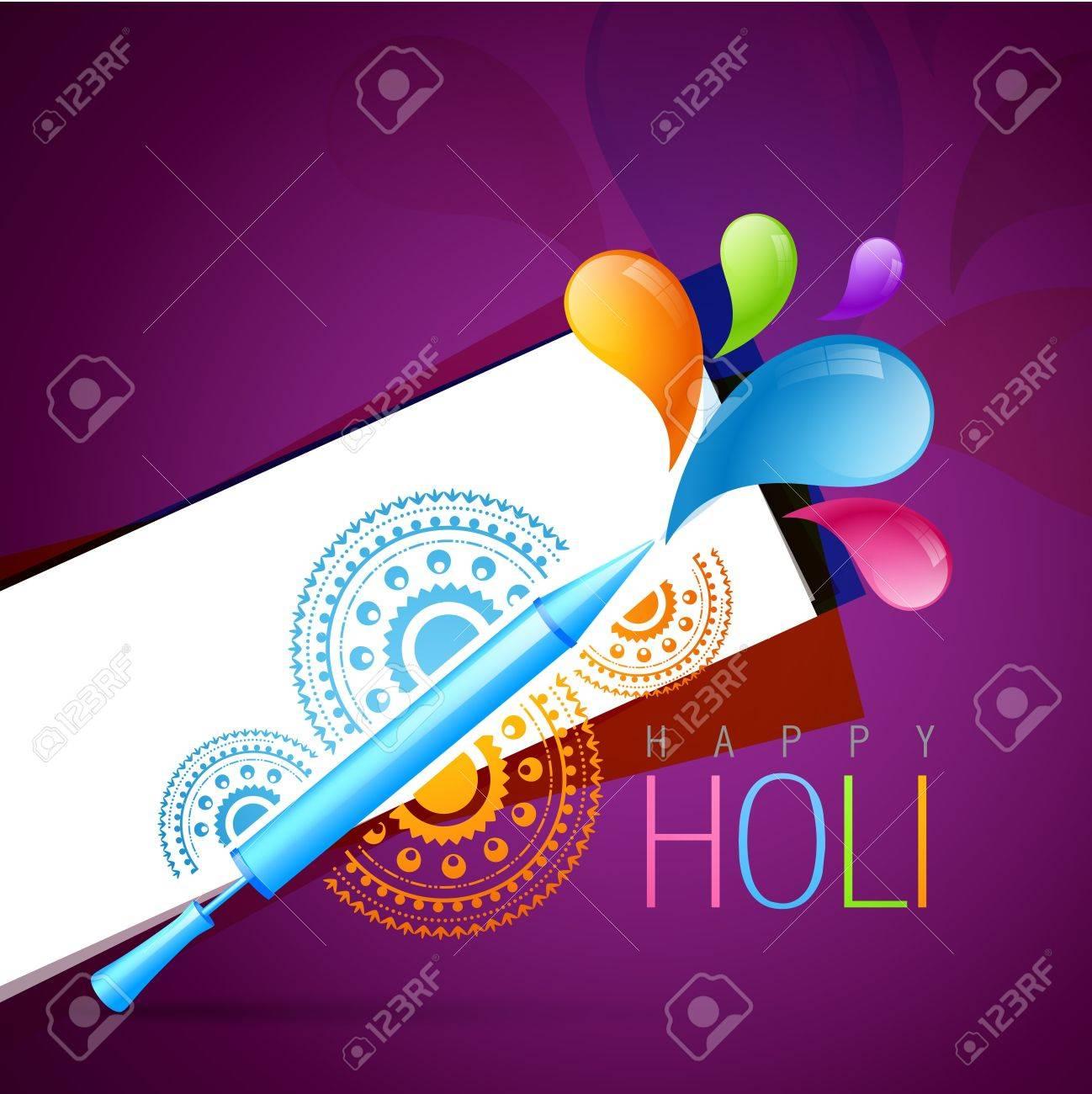 holi festival background with pichkari Stock Vector - 18565967