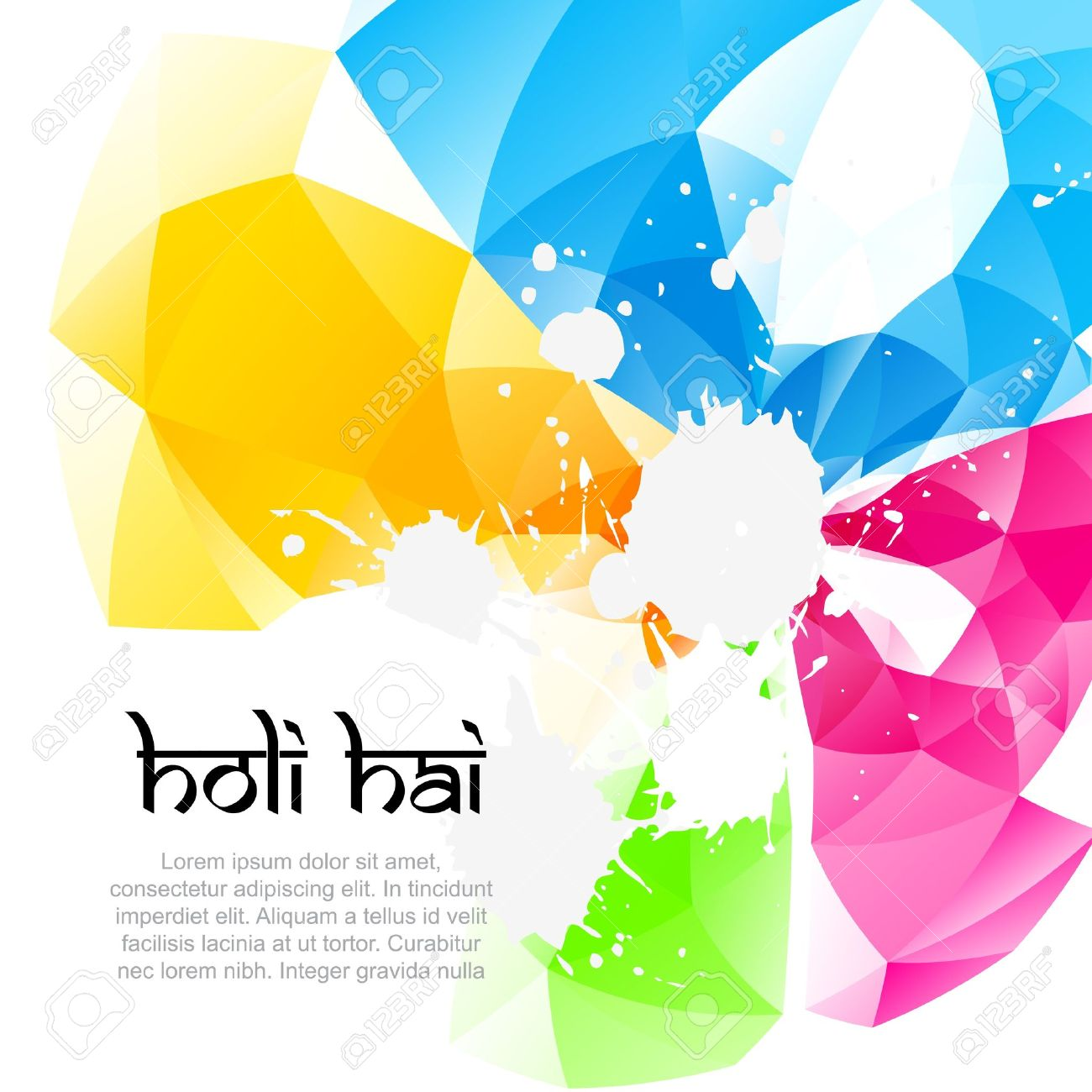 Holi Festival Background Design Royalty Free Cliparts Vectors And