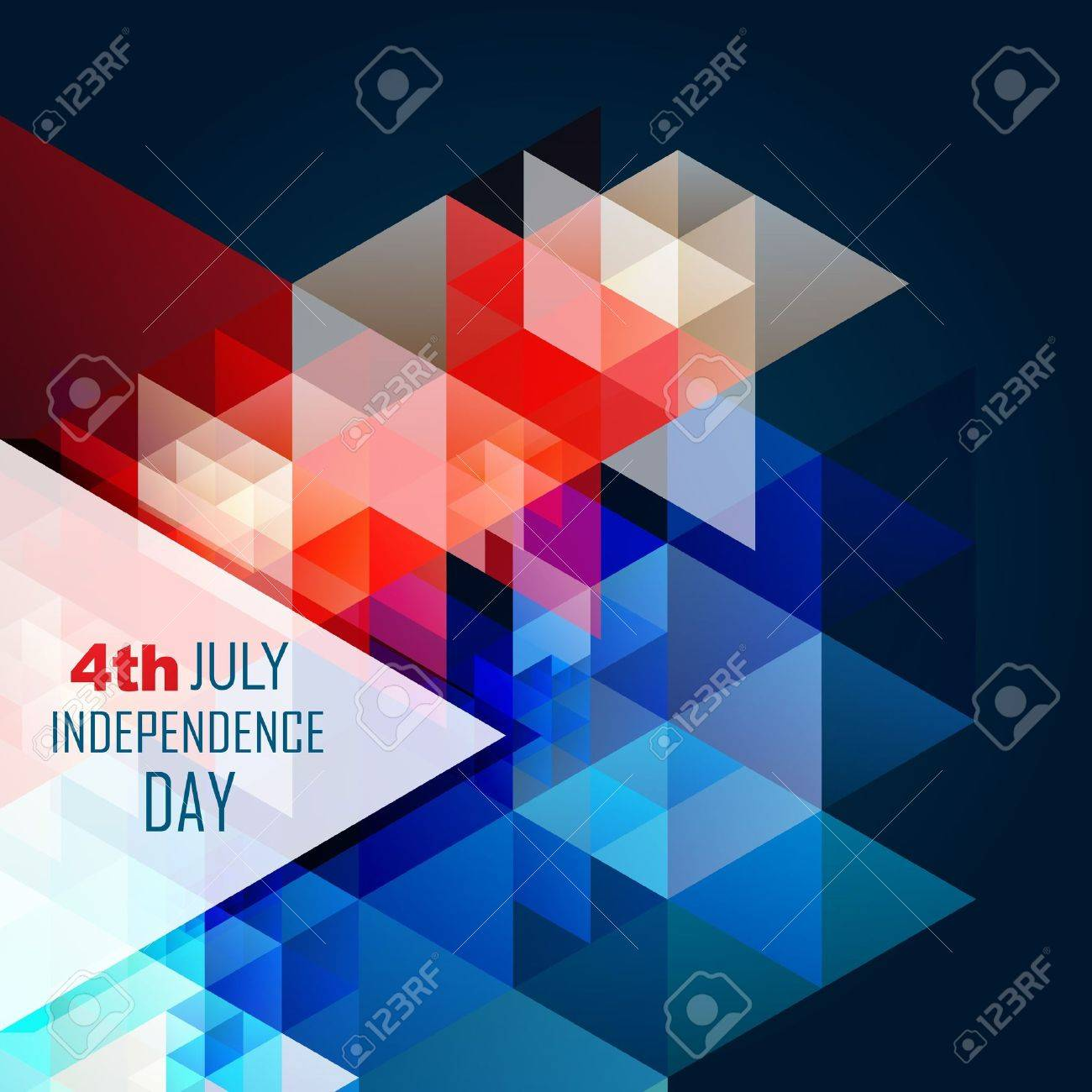 abstract style 4th of july american independence day background Stock Vector - 19979527