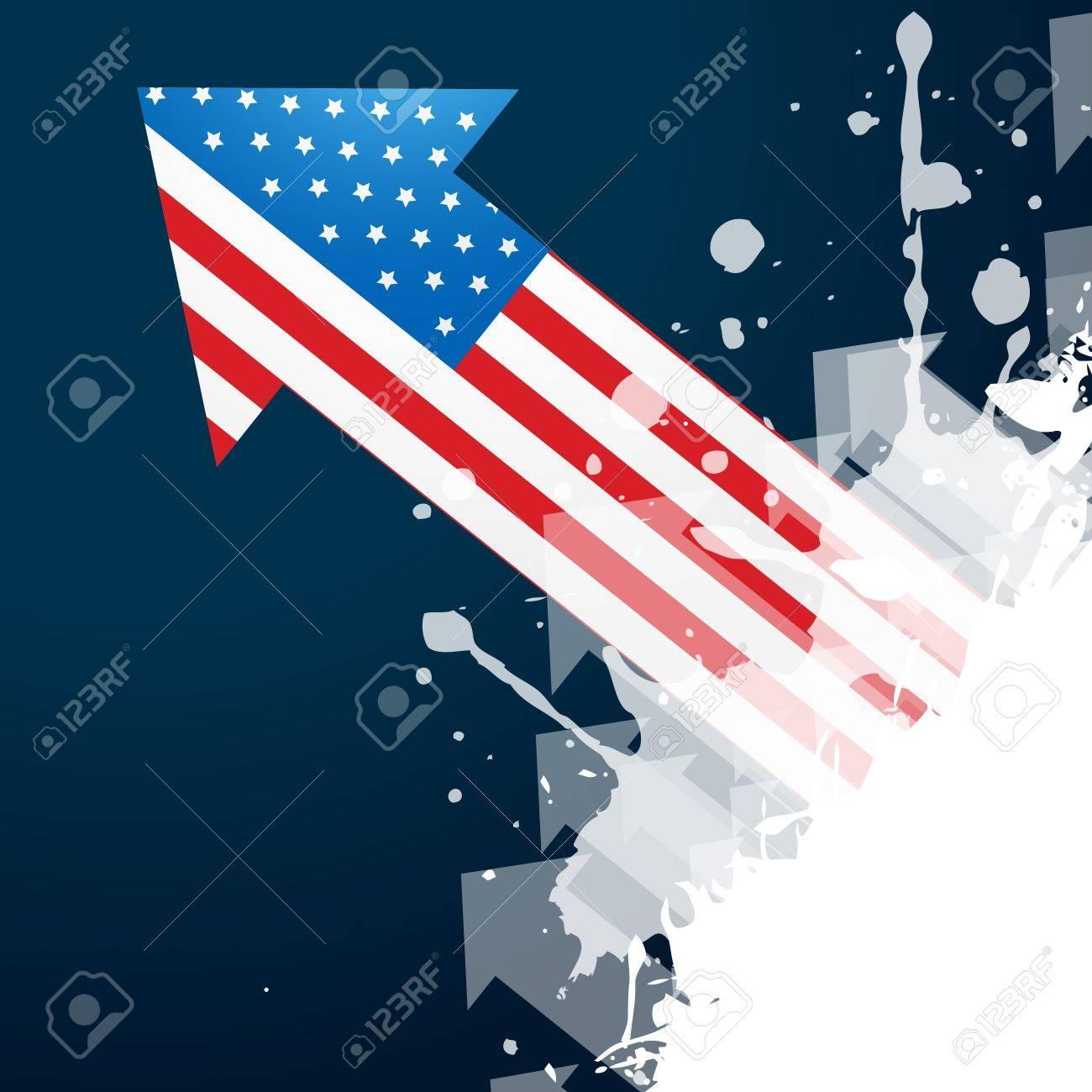 american flag arrow design vector Stock Vector - 19978775