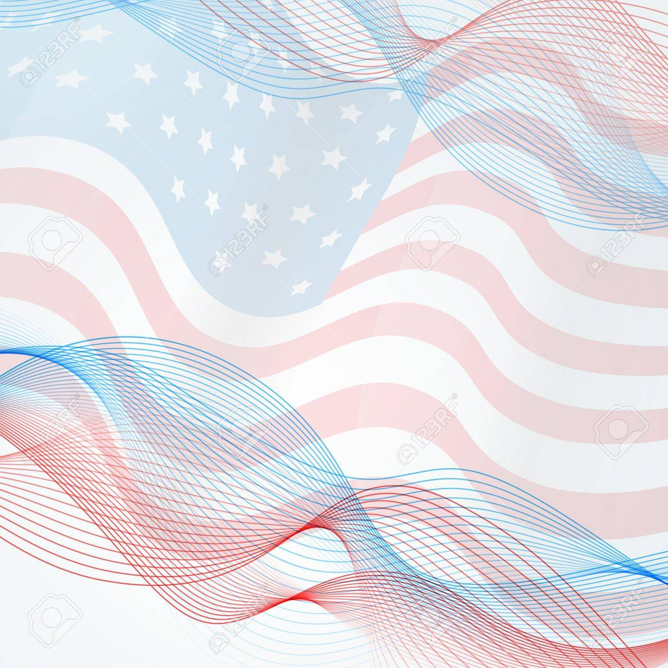vector flag background with space for your text - 19978802