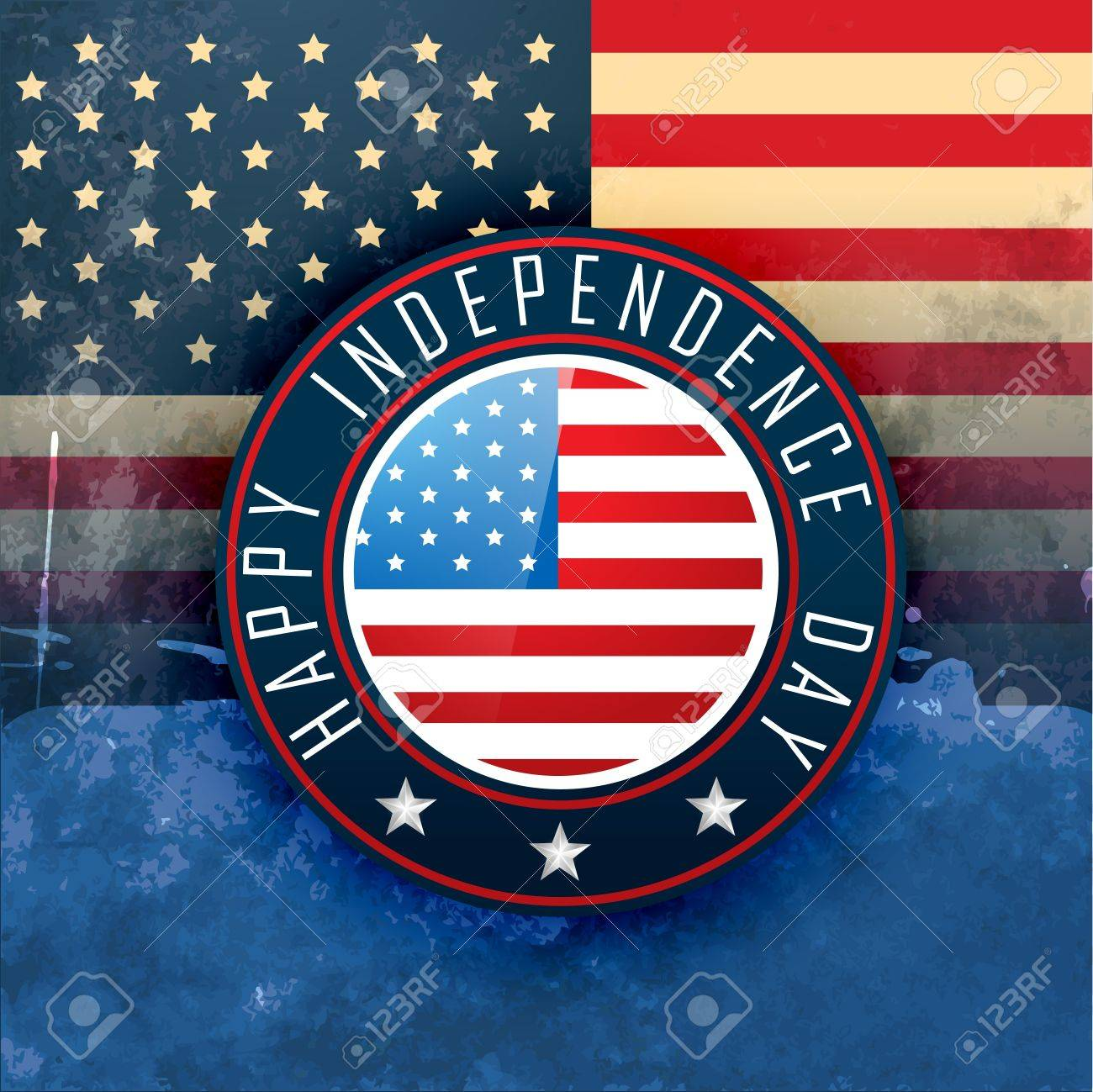 vintage style american independence day design Stock Vector - 19979451