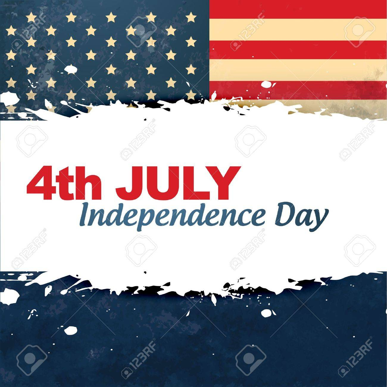 vector vintage style american independence day background Stock Vector - 19979456