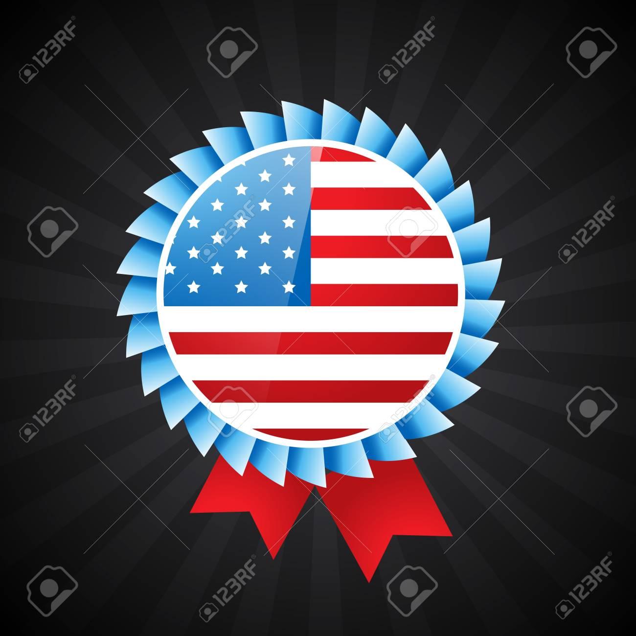 american flag label design illustration Stock Vector - 19978769