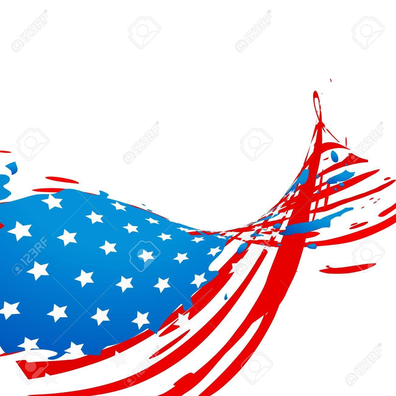 creative wave style american flag design Stock Vector - 19978826