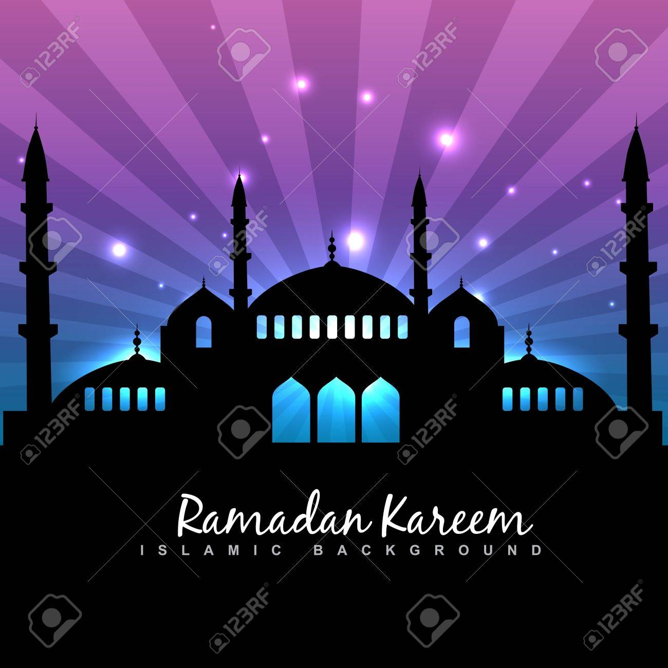 stylish ramadan kareem islamic background Stock Vector - 20531177