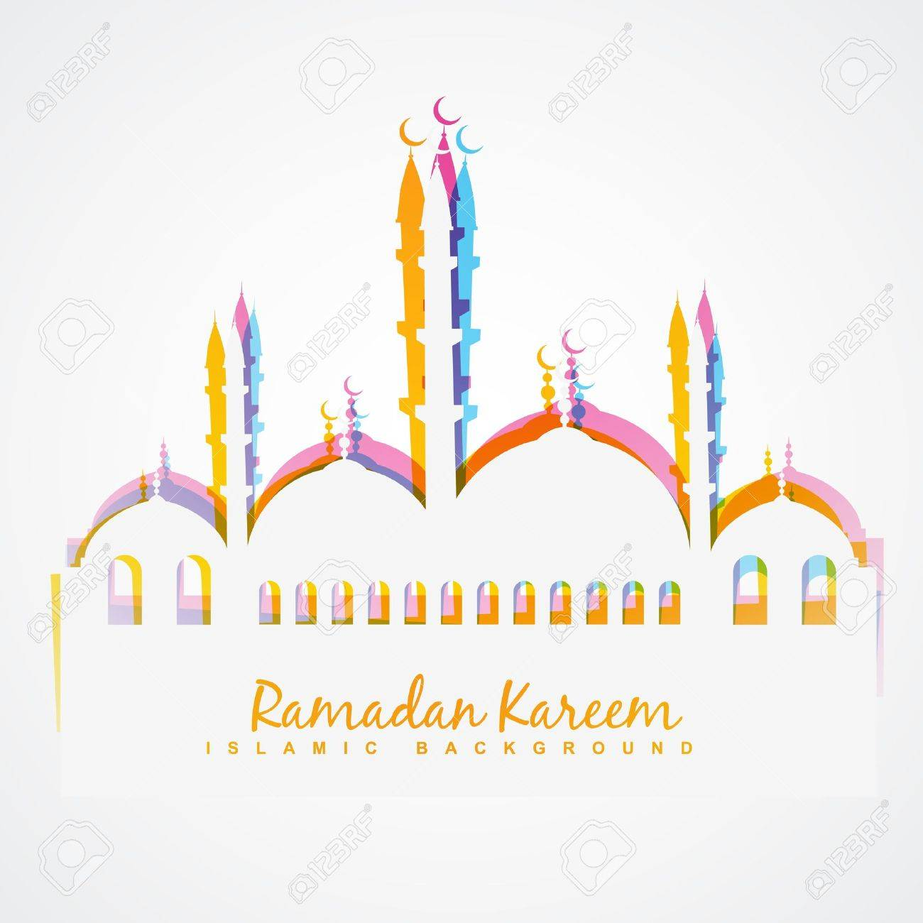 simple colorful islamic festival vector background Stock Vector - 20531178