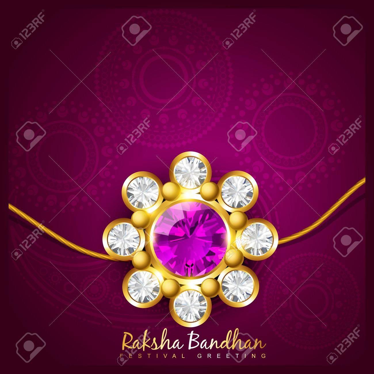 beautiful indian hindu festival of rakshabandhan Stock Vector - 21282033